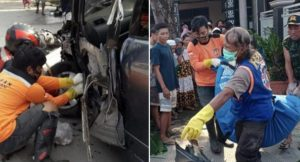Asik Nyapu Jalan Janda di Mojokerto Tewas Ditabrak Avanza