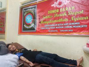 PSHW Mojokerto Gelar Donor Darah