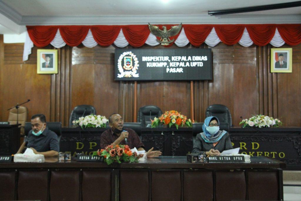 Munculnya Persoalan Dalam Pengelolaan Pasar Tanjung, Dewan Keluarkan Rekomendasi Ke Eksekutif