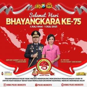 Kapolres Mojokerto, Hari Bhayangkara ke 75