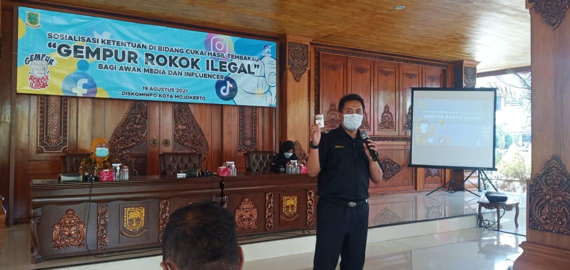 rokok ilegal, gempur rokok ilegal, rokok ilegal kota mojokerto